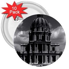 Vintage France Paris Church Saint Louis Des Invalides 10 Pack Large Button (round) by Vintagephotos