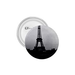 Vintage France Paris Eiffel Tour  Seine At Dusk 1970 Small Button (round) by Vintagephotos