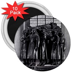 Vintage France Paris  Invalides Marshal Foch Tomb 1970 10 Pack Large Magnet (round) by Vintagephotos