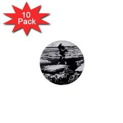 Vintage Alaska Eskimo Blanket Tossing 1970 10 Pack Mini Magnet (round) by Vintagephotos