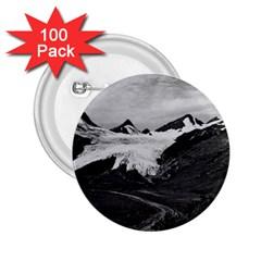 Vintage Usa Alaska Worthington Glacier In Summer 1970 100 Pack Regular Button (round) by Vintagephotos
