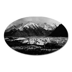 Vintage Usa Alaska Matanuska Clacier 1970 Large Sticker Magnet (oval) by Vintagephotos