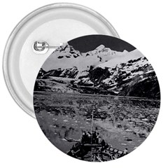 Vintage Usa Alaska Glacier Bay National Monument 1970 Large Button (round) by Vintagephotos
