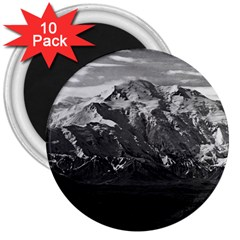Vintage Usa Alaska Beautiful Mt Mckinley 1970 10 Pack Large Magnet (round) by Vintagephotos