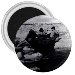 Vintage Usa Alaska Eskimo Hunters 1970 Large Magnet (round) by Vintagephotos