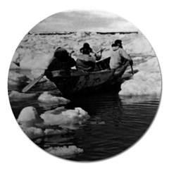 Vintage Usa Alaska Eskimo Hunters 1970 Extra Large Sticker Magnet (round) by Vintagephotos