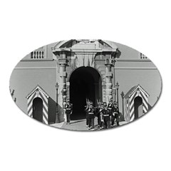 Vintage Principality Of Monaco Palace Gate And Guard Large Sticker Magnet (oval) by Vintagephotos