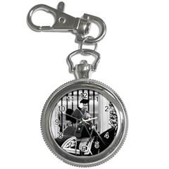 Vintage Uk England  Queen Elizabeth 2 Buckingham Palace Key Chain & Watch by Vintagephotos