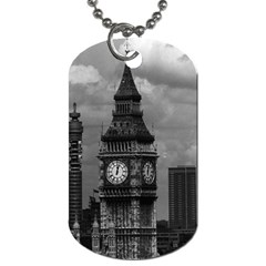 Vintage Uk England London The Post Office Tower Big Ben Twin Sided Dog Tag by Vintagephotos
