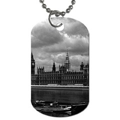 Vintage  Uk England London The Houses Of Parliament 1970 Twin Sided Dog Tag by Vintagephotos