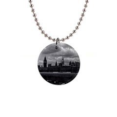 Vintage  Uk England London The Houses Of Parliament 1970 Mini Button Necklace by Vintagephotos