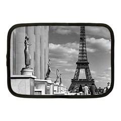 Vintage France Paris Eiffel Tour Chaillot Palace 1970 10  Netbook Case by Vintagephotos