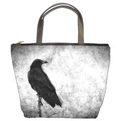 Black Crow Bucket Handbag by heathergreen