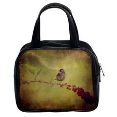 Palm Warbler Twin Sided Satchel Handbag by heathergreen