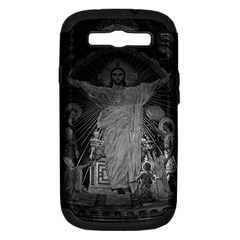 Vintage France Paris Sacre Coeur Basilica dome Jesus Samsung Galaxy S III Hardshell Case (PC+Silicone) by Vintagephotos