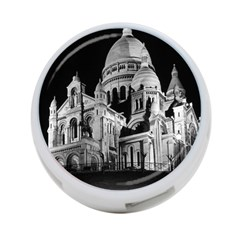Vintage France Paris The Sacre Coeur Basilica 1970 Twin Sided 4 Port Usb Hub (round) by Vintagephotos