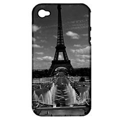 Vintage France Paris Fontain Chaillot Tour Eiffel 1970 Apple Iphone 4/4s Hardshell Case (pc+silicone) by Vintagephotos