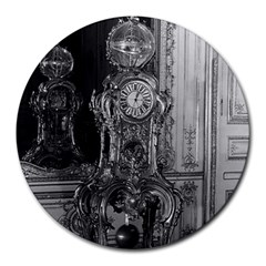 Vintage France Palace Of Versailles Astronomical Clock 8  Mouse Pad (round) by Vintagephotos