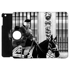 Vintage UK England  queen Elizabeth 2 Buckingham Palace Apple iPad Mini Flip 360 Case by Vintagephotos