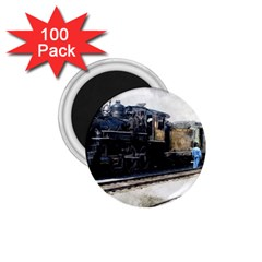 The Steam Train 100 Pack Small Magnet (round) by AkaBArt