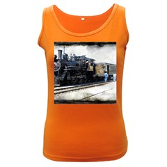 The Steam Train Dark Colored Womens'' Tank Top by AkaBArt
