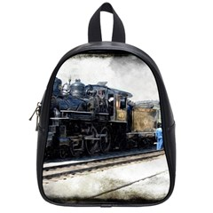 The Steam Train Small School Backpack by AkaBArt