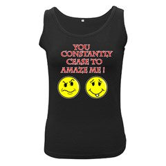 Cease To Amaze Black Womens'' Tank Top by ColemantoonsFunnyStore