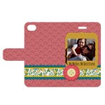 mothers day - Apple iPhone 4/4S Woven Pattern Leather Folio Case