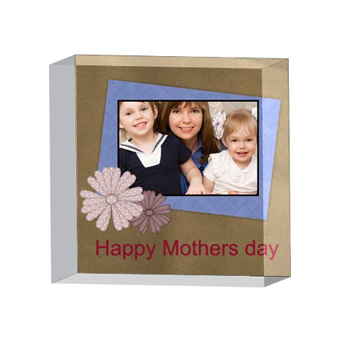 Mothers Day By Mom   4 x 4  Acrylic Photo Block   3qjhd1fx852n   Www Artscow Com Front
