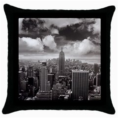 New York, Usa Black Throw Pillow Case by artposters
