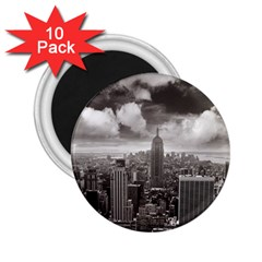 New York, Usa 10 Pack Regular Magnet (round) by artposters