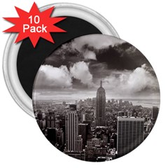 New York, Usa 10 Pack Large Magnet (round) by artposters
