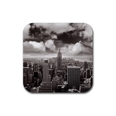 New York, Usa 4 Pack Rubber Drinks Coaster (square) by artposters