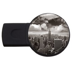 New York, Usa 2gb Usb Flash Drive (round) by artposters