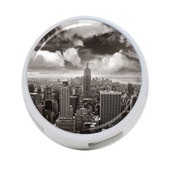 New York, Usa Twin Sided 4 Port Usb Hub (round) by artposters