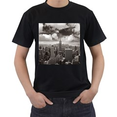 New York, Usa Twin Sided Black Mens'' T Shirt by artposters