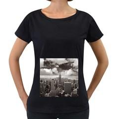 New York, Usa Black Oversized Womens'' T Shirt by artposters