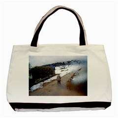 Rainy Day, Salzburg Twin Sided Black Tote Bag by artposters