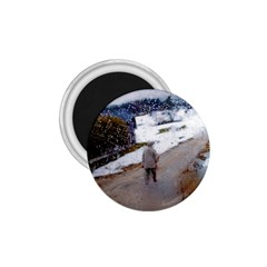 Rainy Day, Salzburg Small Magnet (round) by artposters