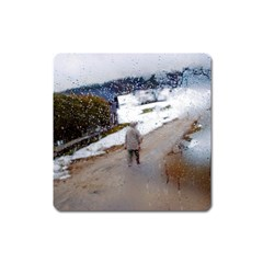 Rainy Day, Salzburg Large Sticker Magnet (square) by artposters