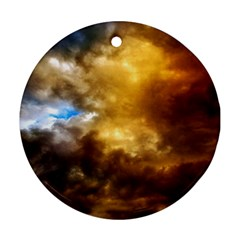 Cloudscape Ceramic Ornament (round) by artposters