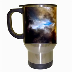 Cloudscape White Travel Mug by artposters