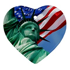 Statue Of Liberty, New York Ceramic Ornament (heart) by artposters