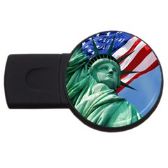 Statue Of Liberty, New York 2gb Usb Flash Drive (round) by artposters