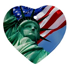 Statue Of Liberty, New York Heart Ornament (two Sides) by artposters