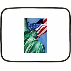 Statue Of Liberty, New York Twin Sided Mini Fleece Blanket by artposters