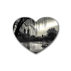 Central Park, New York Rubber Drinks Coaster (heart) by artposters