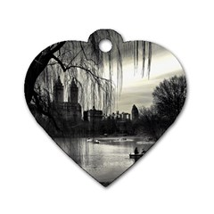 Central Park, New York Single Sided Dog Tag (heart) by artposters