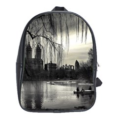 Central Park, New York Large School Backpack by artposters