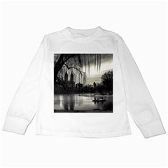 Central Park, New York White Long Sleeve Kids'' T Shirt by artposters